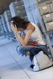 студент коллежа разочарованный Стоковая Фотография RF