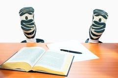 студент ног девушки Стоковое Фото