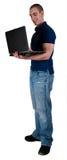 студент примечания компьютера книги Стоковая Фотография RF