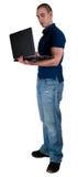 студент примечания компьютера коллежа книги Стоковое Фото