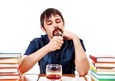 Студент с сигаретой Стоковое Изображение