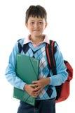 студент школы заднего мальчика милый к стоковые изображения rf