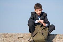 студент школы сь успешный стоковое фото rf
