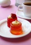 Студень десерта на плите Стоковое фото RF