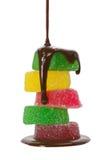 студень плодоовощ шоколада стоковые фотографии rf