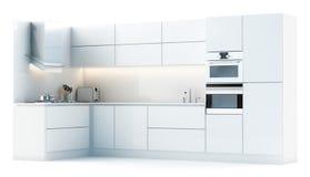 студия кухни шкафов самомоднейшая Стоковое Изображение