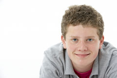 студия портрета мальчика ся подростковая стоковое фото