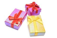 студия 3 съемки подарка коробки Стоковые Фото
