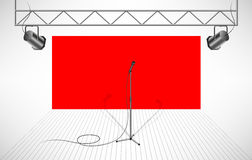 Студия с изолированным микрофоном Иллюстрация штока