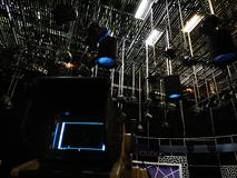 Студия телевидения - решетка светов стоковое изображение