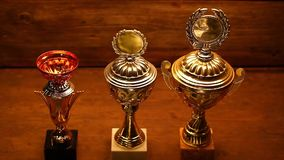 Студия чашки золота серебряная бронзовая акции видеоматериалы