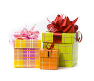 студия 3 съемки подарка коробки Стоковое Изображение