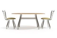 стулы закрепляя изолированную белизну таблицы путя Стоковое Изображение