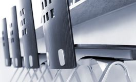 стулы закрывают встречное четырехрядное поднимающее вверх Стоковая Фотография