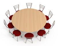 стулы изолировали белизну круглого стола Стоковые Фотографии RF