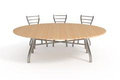 стулы изолировали белизну таблицы 3 Стоковое Фото