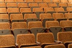 Стулы концертного зала желтые, пустая зала Стоковые Фотографии RF