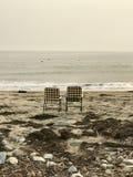 Стулы на пляже Стоковые Фотографии RF