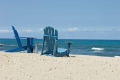 стулы пляжа Гавайские островы Стоковые Фото