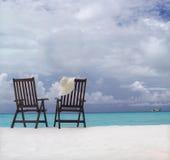 стулы пляжа 2 стоковая фотография rf