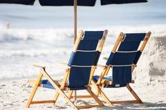 Стулы пляжа Стоковые Изображения RF