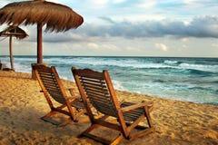 стулы пляжа Стоковая Фотография