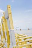 стулы пляжа florida miami Стоковое Фото