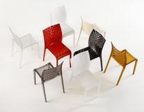 стулы покрасили Стоковое Изображение RF