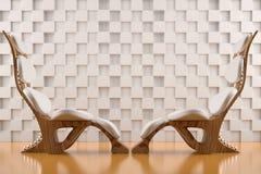 стулы смотрят на ослаблять к белизне Стоковые Изображения RF