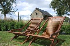 стулы field ослаблять Стоковые Фото