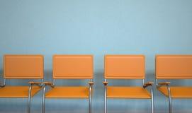 Стулья Anteroom оранжевые бесплатная иллюстрация