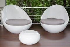 2 стуль белых яичка Стоковое Фото