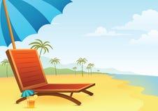 Стул и коктеил на пляже Стоковое Фото