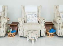 стул массажа в курорте стоковое фото rf