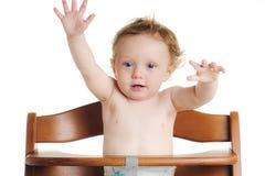 стул младенца высоко голодный Стоковое Фото