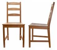 стул над белое деревянным Стоковое Изображение