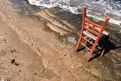 стул пляжа Греция athens Стоковое фото RF