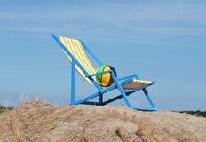 Стул пляжа стоковое изображение rf