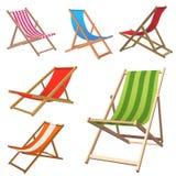 стул пляжа иллюстрация штока