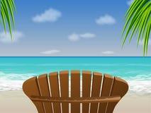 стул пляжа adirondack Стоковая Фотография RF