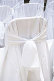 стул покрывает венчание Стоковые Изображения