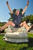 стул скачет человек Стоковое Изображение