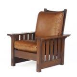 стул снабжает кожаные morris подкладкой Стоковые Фото