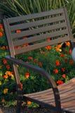 стул цветет патио Стоковые Изображения RF