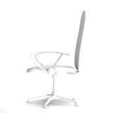 стул 3d представил белизну Стоковое Фото