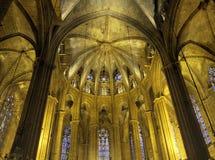 ступица собора barcelona Стоковые Фотографии RF