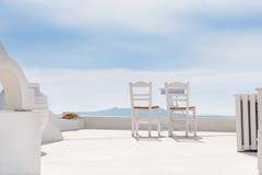 2 стула на террасе Стоковые Фотографии RF