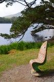 Стул берега озера Стоковое Фото