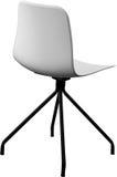 Стул белого цвета пластичный, современный дизайнер Вращающееся кресло изолированное на белой предпосылке вектор интерьера иллюстр Стоковое Изображение