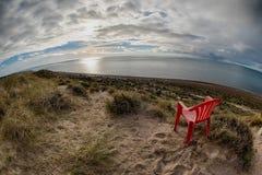 Стул вне маяка Патагонии в полуострове valdes Стоковое фото RF